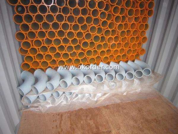 concrete pump delivery pipe package in container