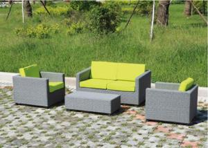 Steel Rattan Sofa Set