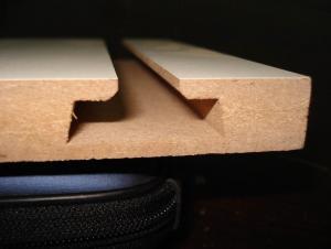 Slot Melamine MDF Plywood/Groove Panel