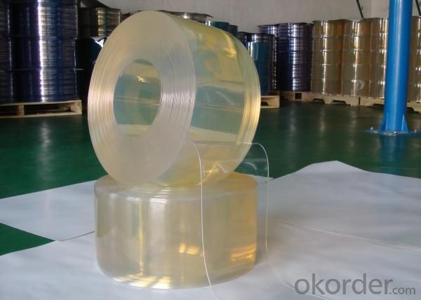 Anti Insect PVC Strip Curtain in Yellow Color