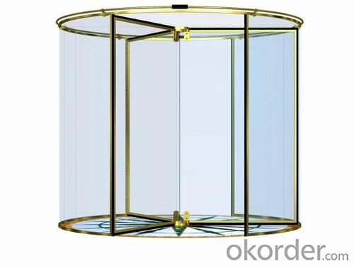 Glass Door Revolving Automatically with Remote Control