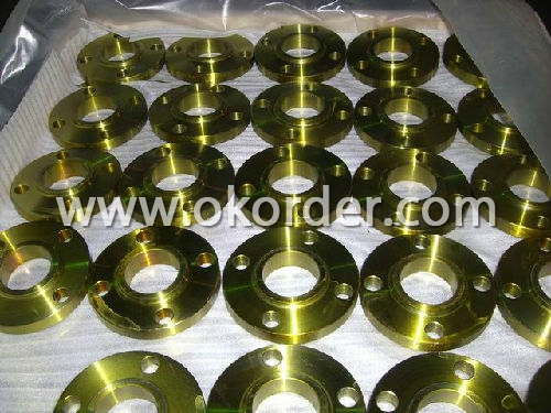 carbon steel flange yellow painting