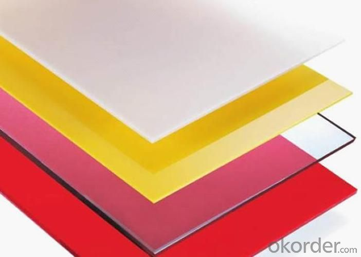 Frosted Polycarbonate Sheet  Be Made Of 100% Virgin Bayer Material