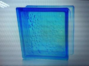 Glass Block Misty Cloudy Blue