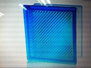 Glass Block Parallel Light Blue
