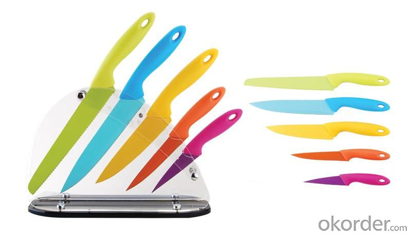 Non-Stick Colorful Knife Set