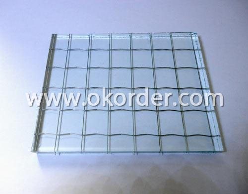 5mm/5.5mm wired glass for windows and doors, curtain walls,partitions, etc.