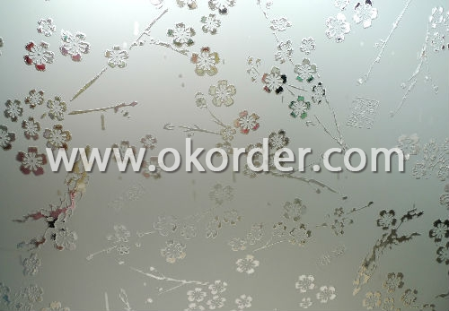 3-12mm acid etched glass for windows,etc.