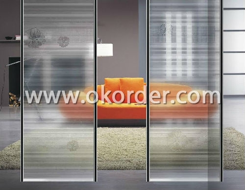 3-10mm acid etched glass for doors