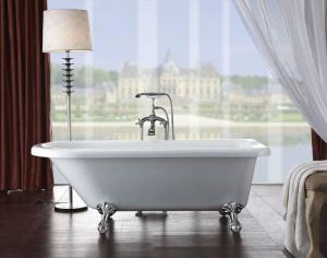 Modern Acrylic Clawfoot Bathtub 8808