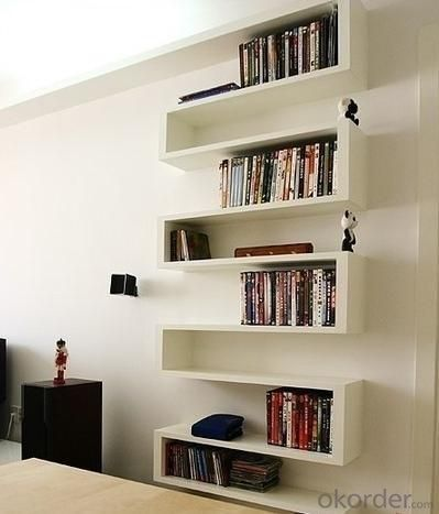 White Unique Bookcase