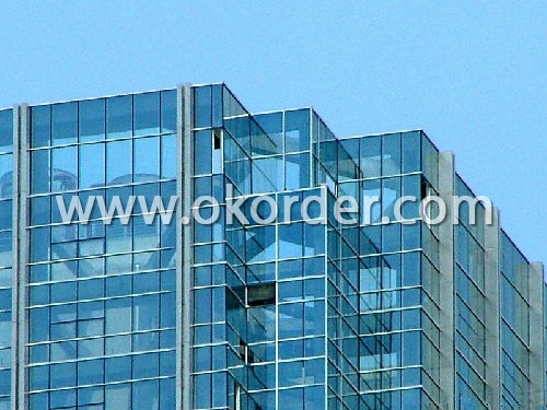 clear low-e glass for building