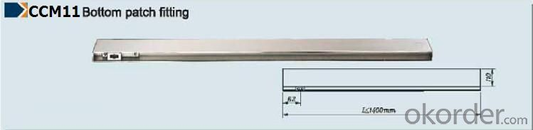 Stainless Steel Long Patch Fitting for Glass Door