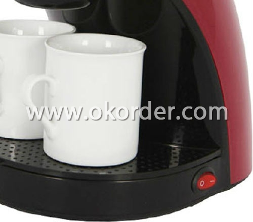 2 cup drip Coffee Maker with two ceramic cups