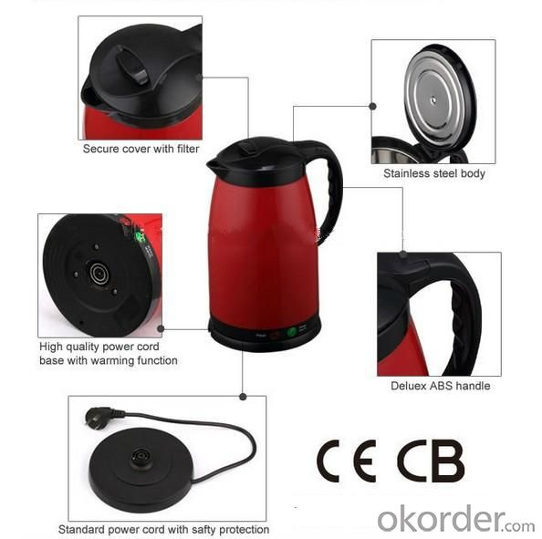 .Color Customized Hot Selling Stainless Steel Kettle
