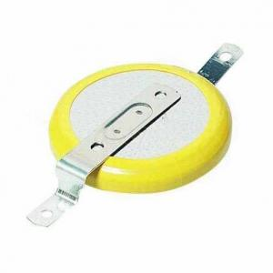 Lithium Coin Cell Battery with Tabbed Tabs Pins CR2032