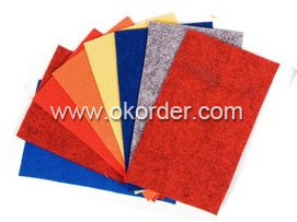 Different colors of non woven carpets