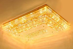 Crystal Ceiling Light Pendant Lights Classic Golden Ceiling Pendant Light 1100*800