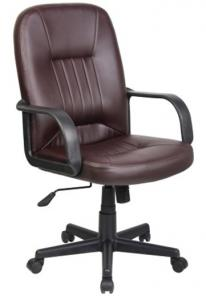 Brown Modern style PU Office Chair/ PP Armrests/Butterfly tilt/Office Furniture