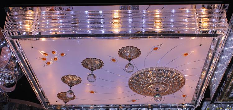 Crystal Ceiling Light Pendant Lights Classic Golden Ceiling Pendant Light 1000*800 High Brightness