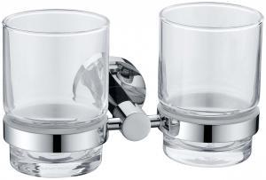 Bathroom Accessories Brass Double Tumbler Holder