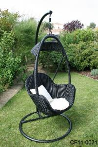 Modern Leisure Rattan Outdoor Garden Furniture Swing Basket