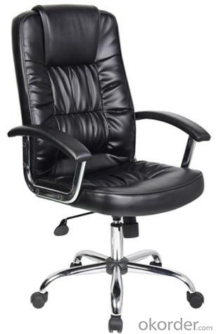 Modern style PU Office Chair/Chromed with PU Pad Armrests/Butterfly tilt/Office Furniture
