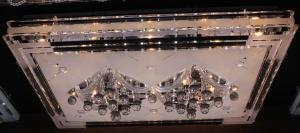LED Crystal Ceiling Light Pendant Lights Classic Golden Ceiling Pendant Light 1100*800 Long LED SMD Type 3