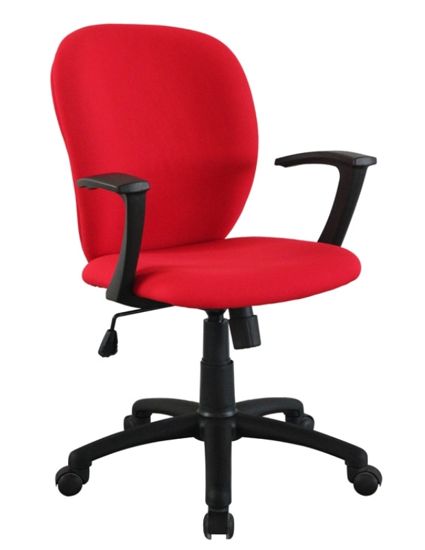 Classical Hot Selling High Quality Red Fabric Office Chair