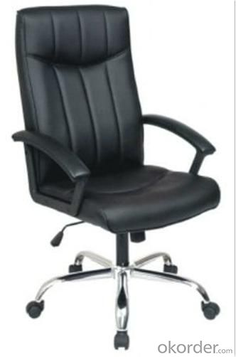 Confortable executive Vertical stripes PU Office Chair/320mm Nylon Base/ PP Armrests/Butterfly tilt/Office Furniture