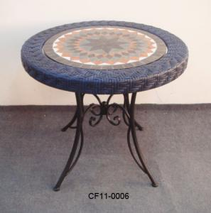 Rattan Antique Pattern Outdoor Garden Furniture Table