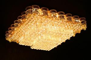 Crystal Ceiling Light Pendant Lights Classic Golden Ceiling Pendant Light 428PCS Light Ball 1000*1000