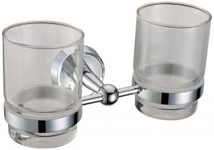 New Stytle Bathroom Accessories Solid Brass Double Tumbler Holder
