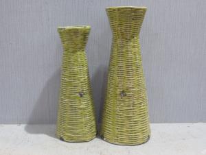 New Design Hot Selling Home Decorative Ceramic Light Color Flower Vase S