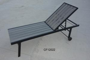 Outdoor Iron and Wood Plastic Board Lounge