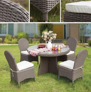 PVC Rattan & Aluminum Outdoor Garden Furniture Table Set