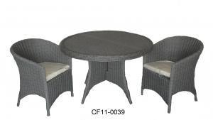 Classical Modern Leisure Rattan Outdoor Garden Furniture One Table Four Chairs