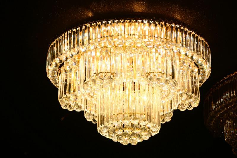 Crystal Ceiling Light Pendant Lights Classic Golden Ceiling Pendant Light 221PCS Light Ball Round D850mm