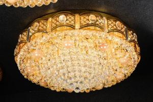 Crystal Ceiling Light Pendant Lights Classic Golden Ceiling Pendant Light 259PCS Light Ball Round D1000mm