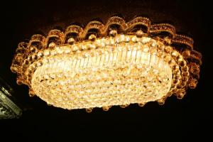 Crystal Ceiling Light Pendant Lights Classic Golden Ceiling Pendant Light 294PCS Light Ball 1150*750