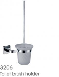 New Design Exquisite Decorative Bathroom Accessories Solid Brass Toilet Brush Holder