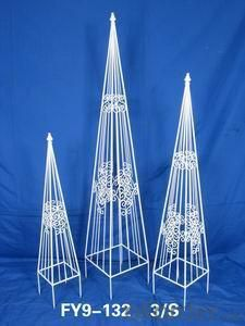 Home Decoration Garden Decor Set Of 3 Pcs Pyramid Trainer Trellis