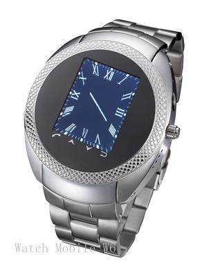 Stainless Steel Waterproof Watch Mobile Phone W838