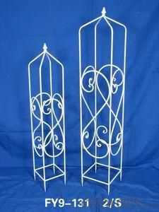 Home Decoration Garden Decor Set Of 2 Pcs White Garden Trellis