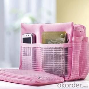 Hot Selling Home Storage Pink Dual Zippers Organizer