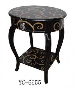 Home Furniture Classical Cloud Patterns Table PU High Gloss MDF And Birch Solid