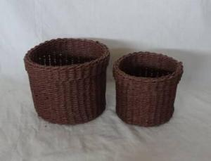Home Storage Hot Sell Soft Woven Paper Rope Brown Box S/2