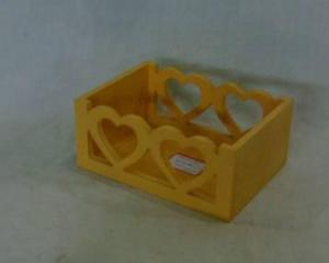 Home Storage Willow Basket Painting Plywood Yellow Box