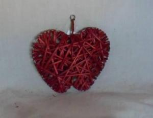 Home Decor Hot Selling Stained Red Willow-Woven Apple Deco