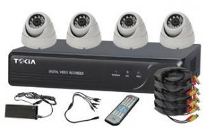 4CH Home Security System DVR KITS with 4pcs Dome Cameras S-12
